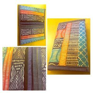 Handbags - Handmade Ghanian Print Fabric Zipper Pouch